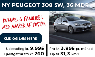 Ny Peugeot 308 SW privatleasing