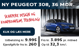 Ny Peugeot 308 privatleasing